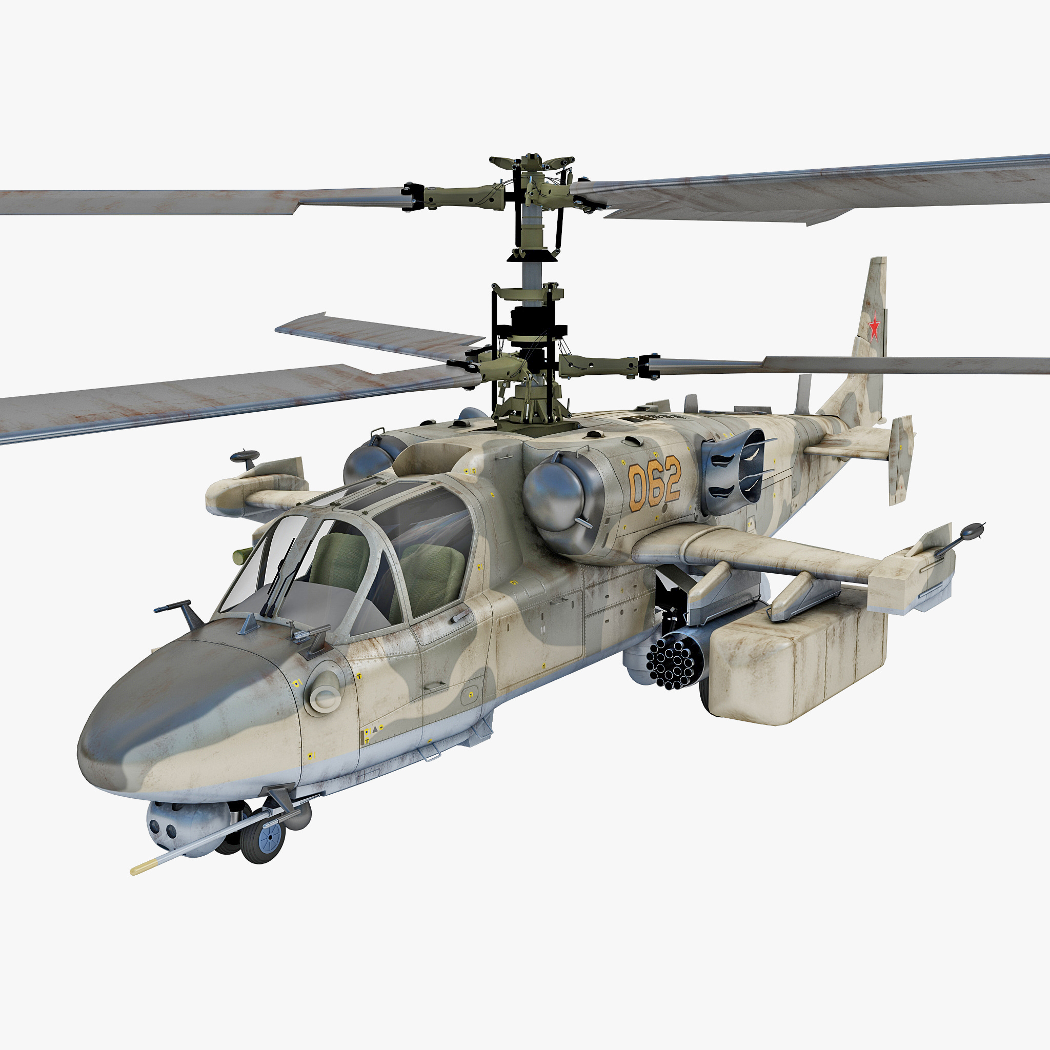 Ka 50: Russian Attack Helicopter Kamov 3ds