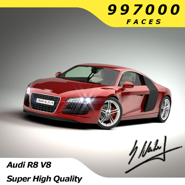 Audi R8 V8 - High Quality 3D Models