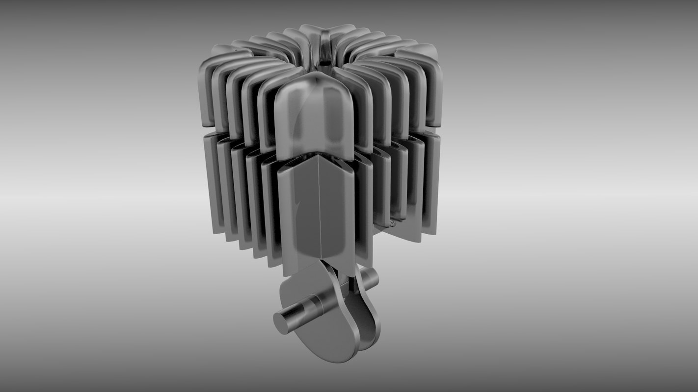 Two stroke engine cylinder and piston animated set