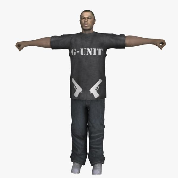 50 cent (rigged) 3D Models