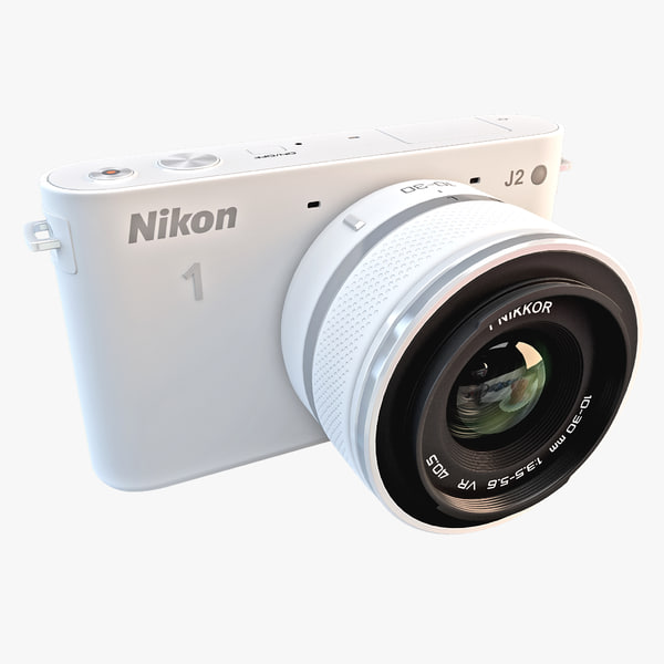 Nikon 1 J2 HD Digital Camera White 3D Models
