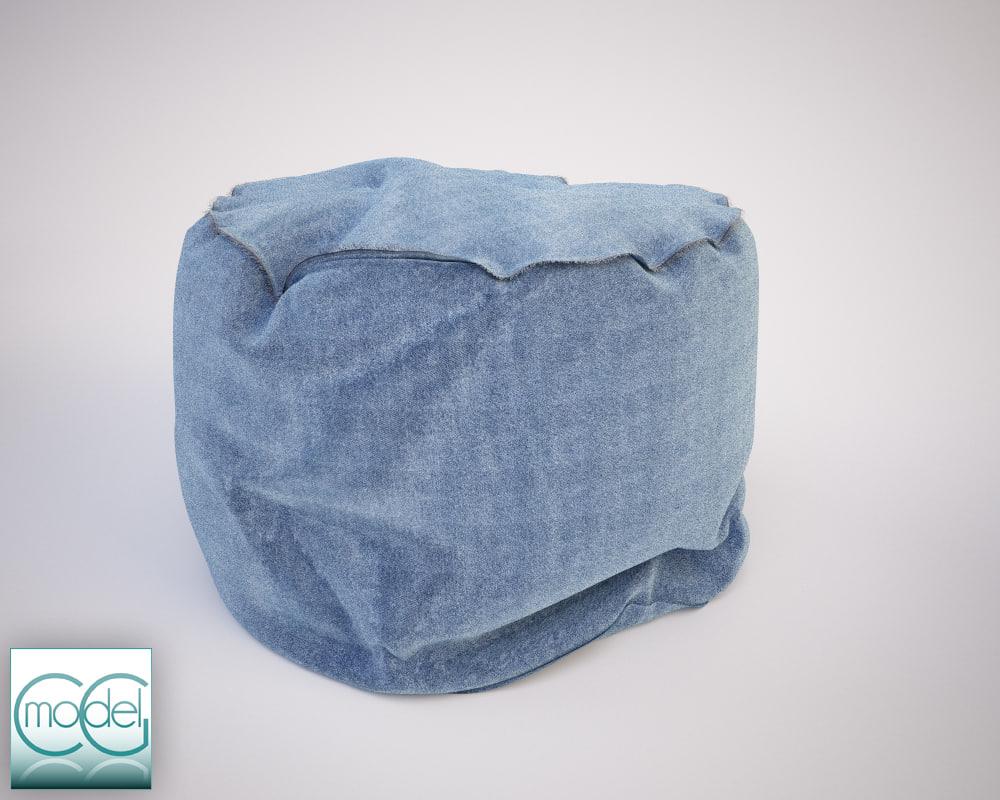 round pouf 10