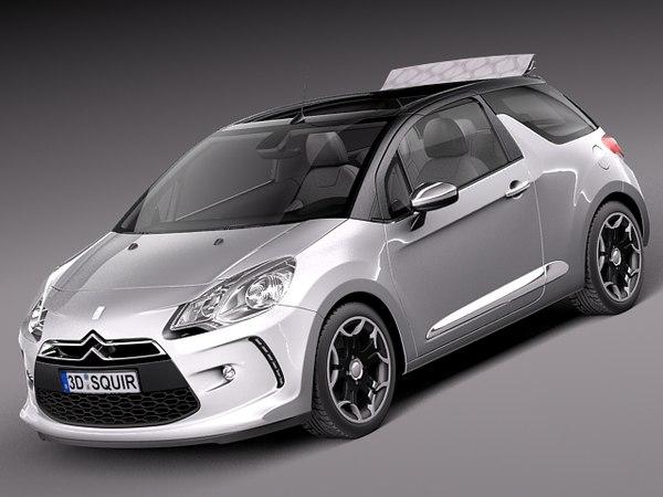 Citroen DS3 Cabrio 2013 3D Models