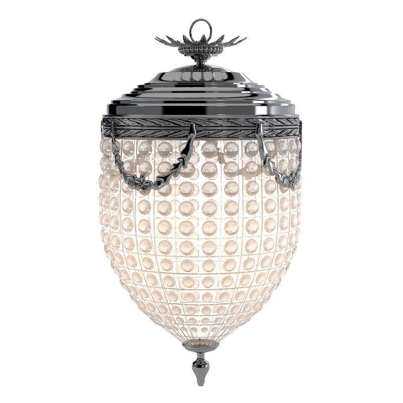 Eichholtz Chandelier Empire Extra small lantern glass pendant ceiling classic crystal classical0001.jpg