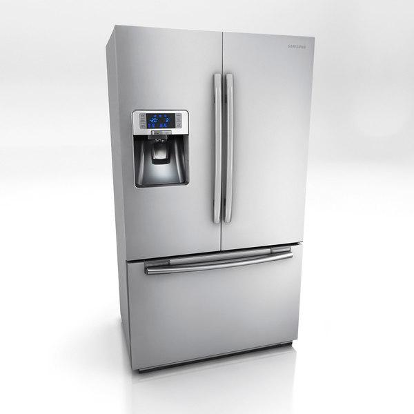 Multi Door Refrigerator 3D Models