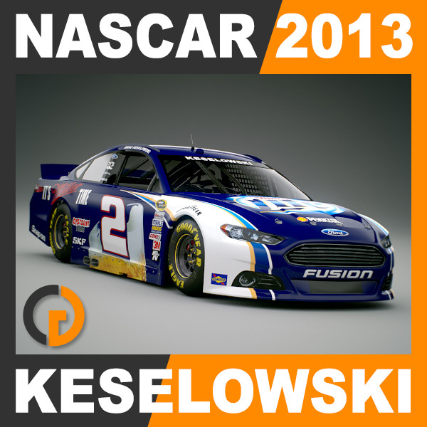 Nascar 2013 Car - Brad Keselowski Ford Fusion #2 3D Models