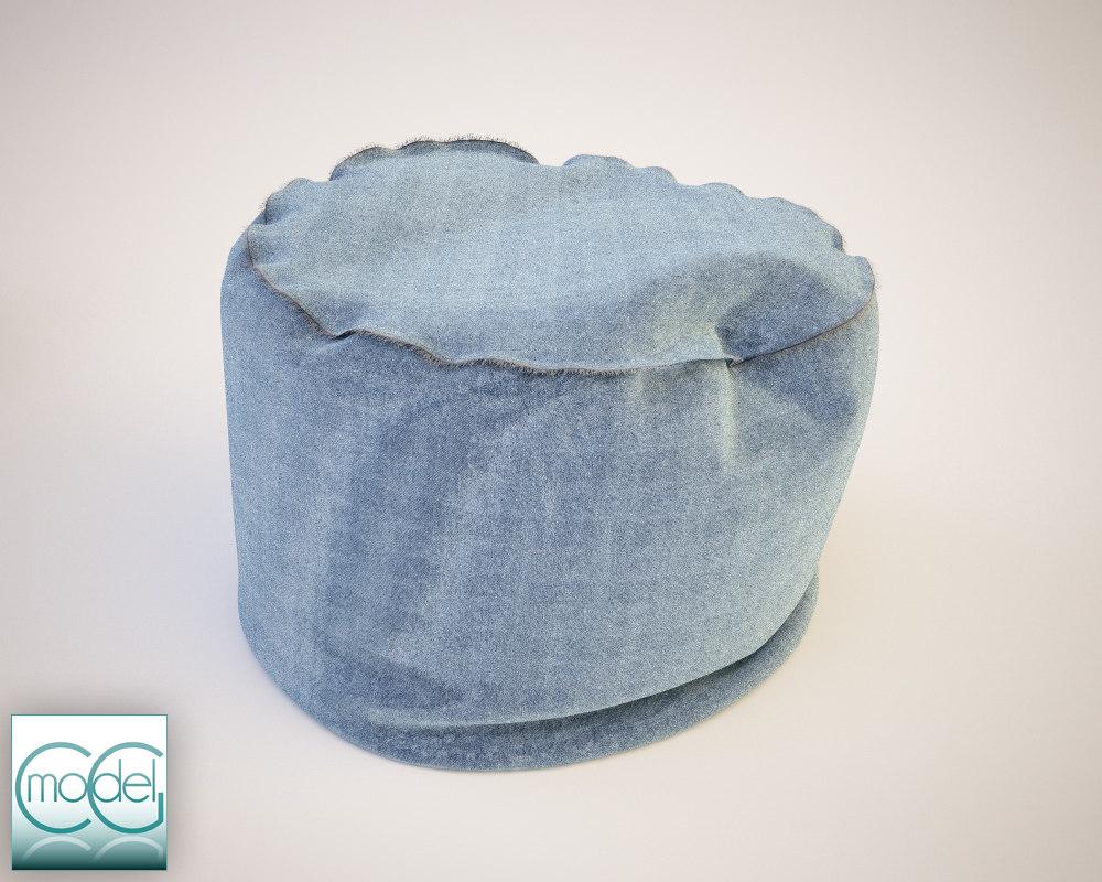 round pouf 17