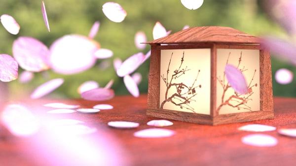 Japanese Lantern Scene 3D Models