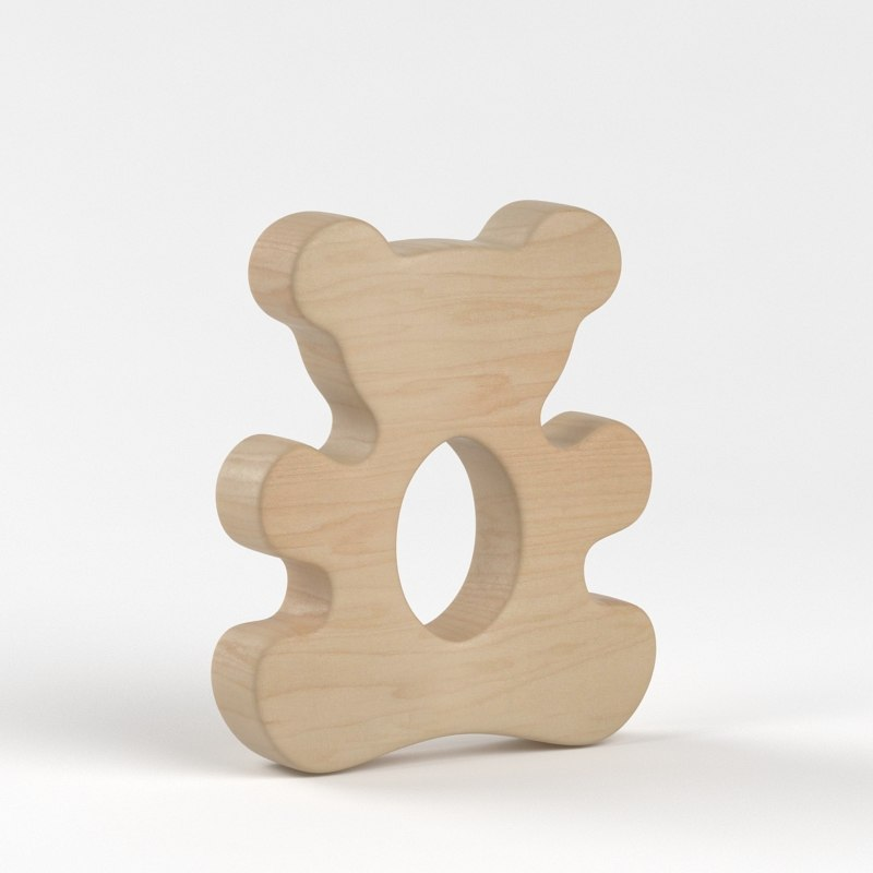 3ds max wooden teddy bear
