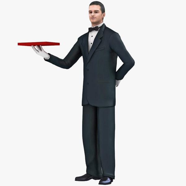 Waiter 3 3D Models