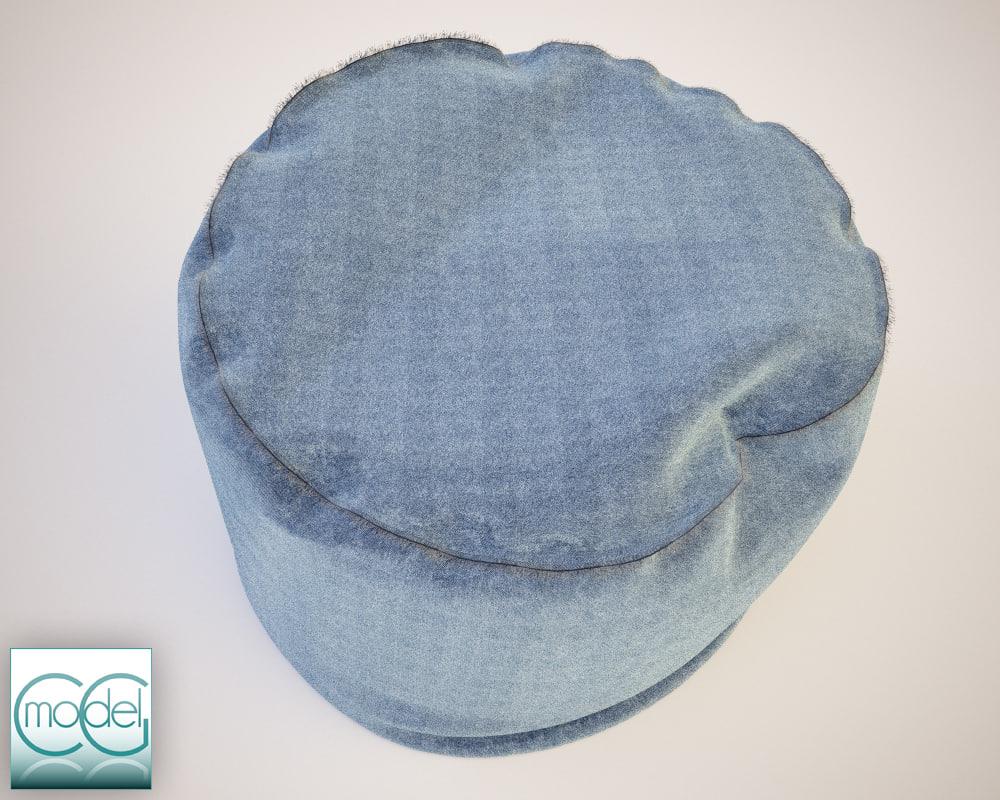 round pouf 06