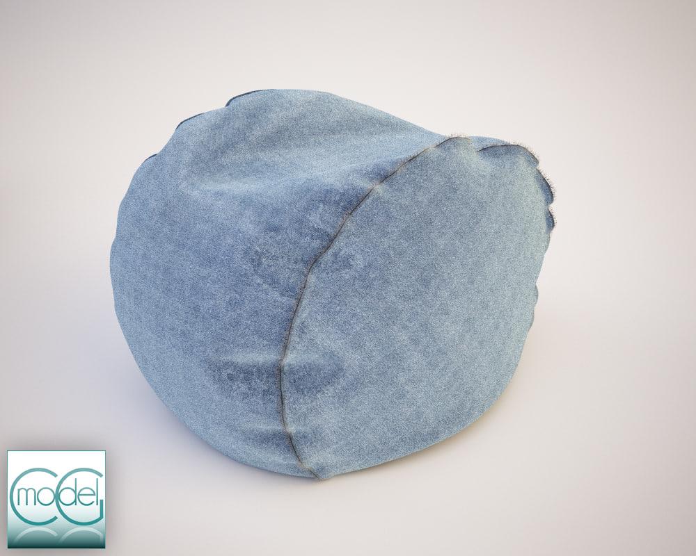 round pouf 15
