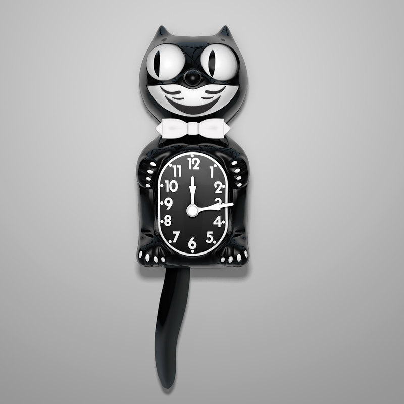3ds max retro kit cat clock - Kitty cat clock ...