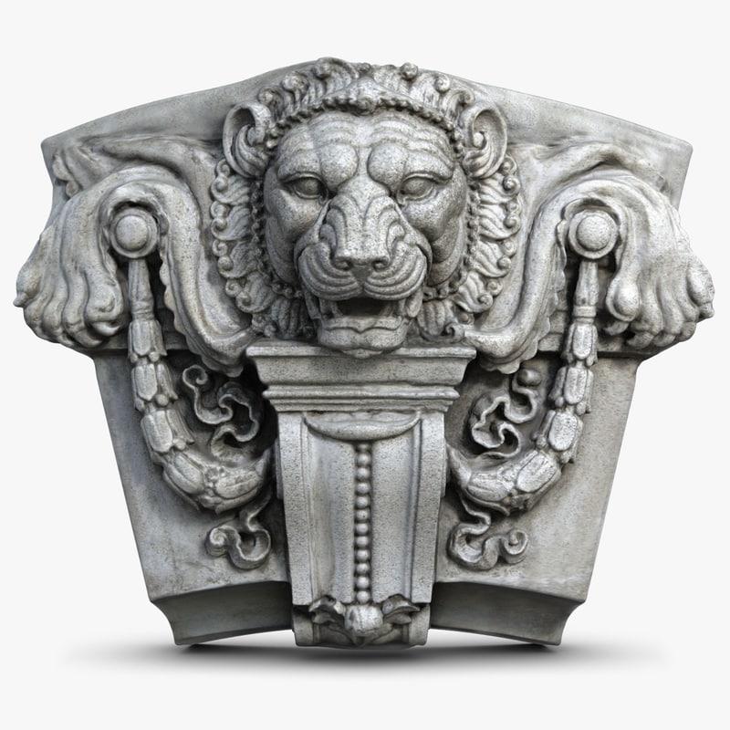 D Scan Furniture LionHeadMolding-4chk247.jpg