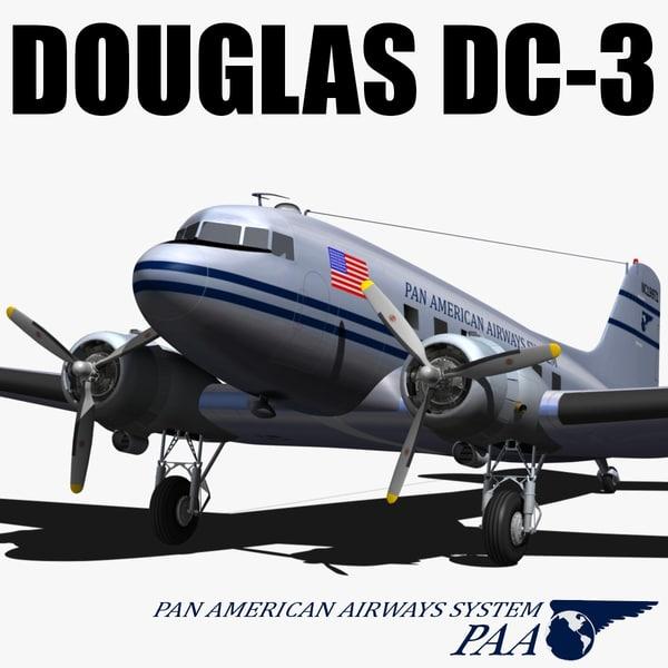 Douglas DC-3 Dakota 3D Models