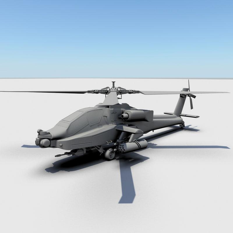 apache longbow 3d model