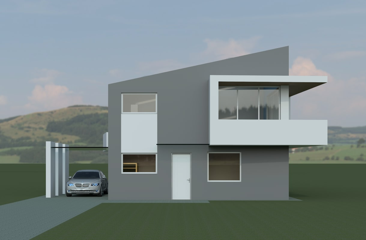 Modern house 3d model House 3d model