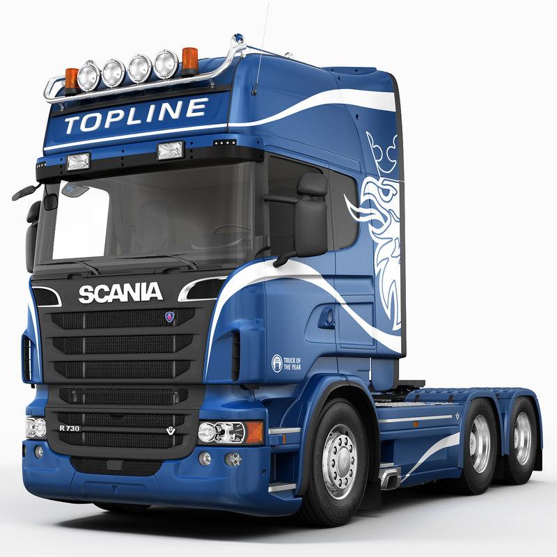 3d Scania R730 6x4 Model