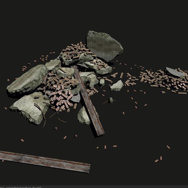 Debris, game ready 3D Models