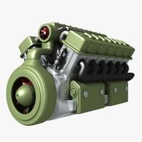 tank engine 3D models