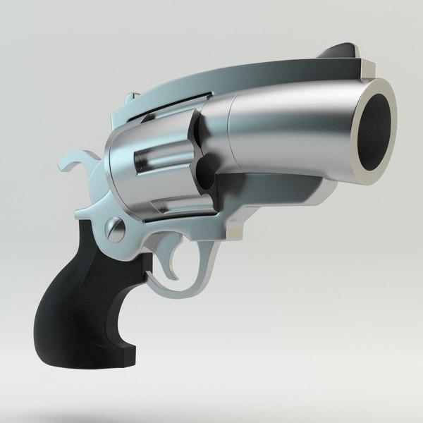 Revolver Cartoon 3D Models