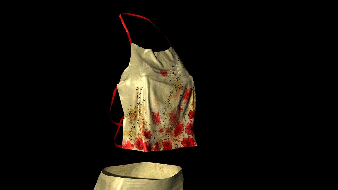 Women's Floral Skirt & Tank Top