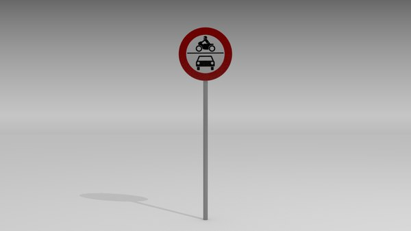 Vehicles prohibited sign 3D Models