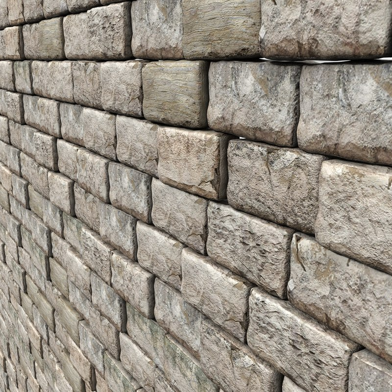 Stone Block Medieval Wall (2)