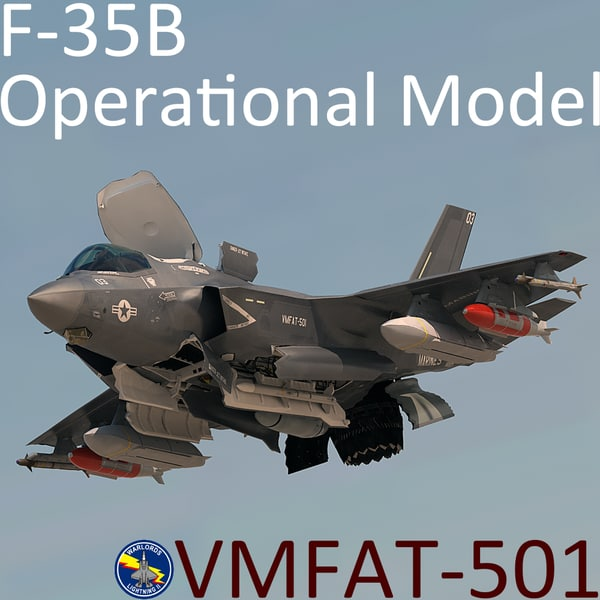 USMC F-35 B Lightning II Operational Model with pilot 3D Models