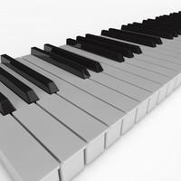 Piano Key 3D models
