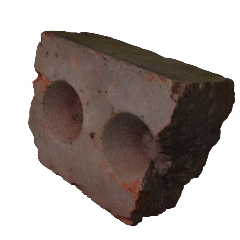 brick with a conic cavity