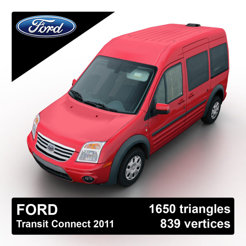 Used Ford Transit Connect In Widnes Cheshire: 3d Model 2011 Transit Connect Van
