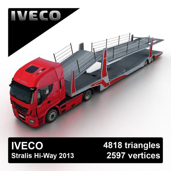 Iveco Stralis Hi-Way 2013 3D Models