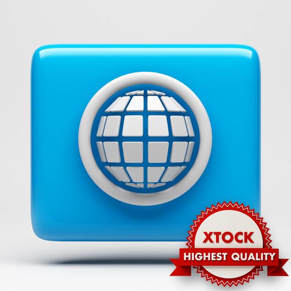 Global Internet Icon 3D Models