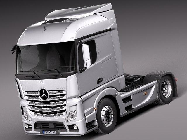 3ds max aero 2014 mercedes truck