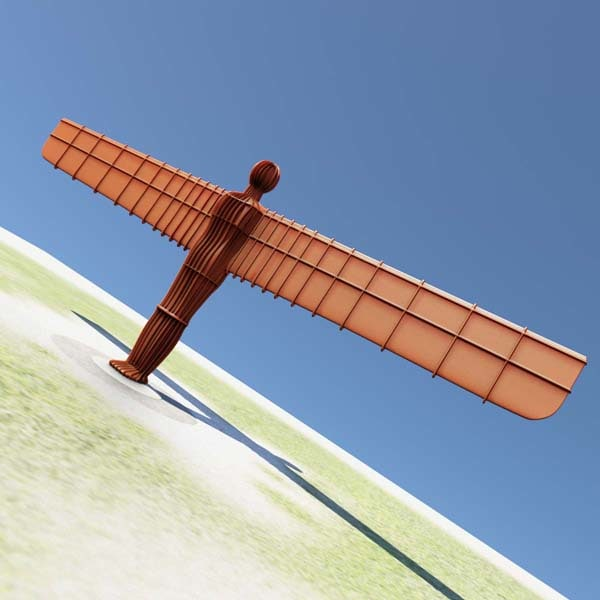 Angel Of The North Statue 3D Models