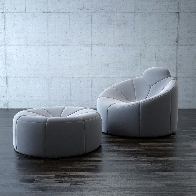 Pumpkin armchairs 3d max - Pumpkin sofa ligne roset ...