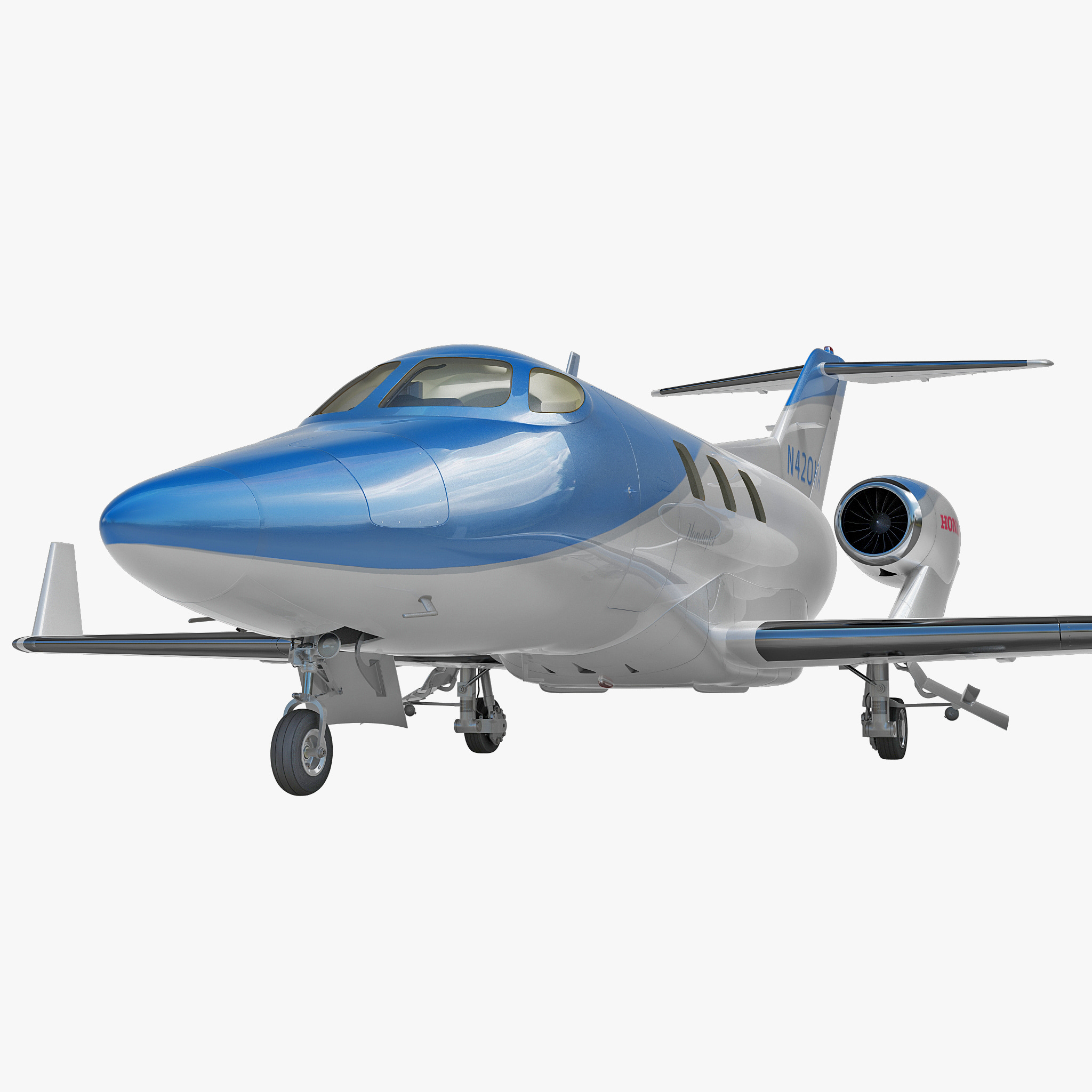 3d model of business jet honda ha 420 for Honda private jet