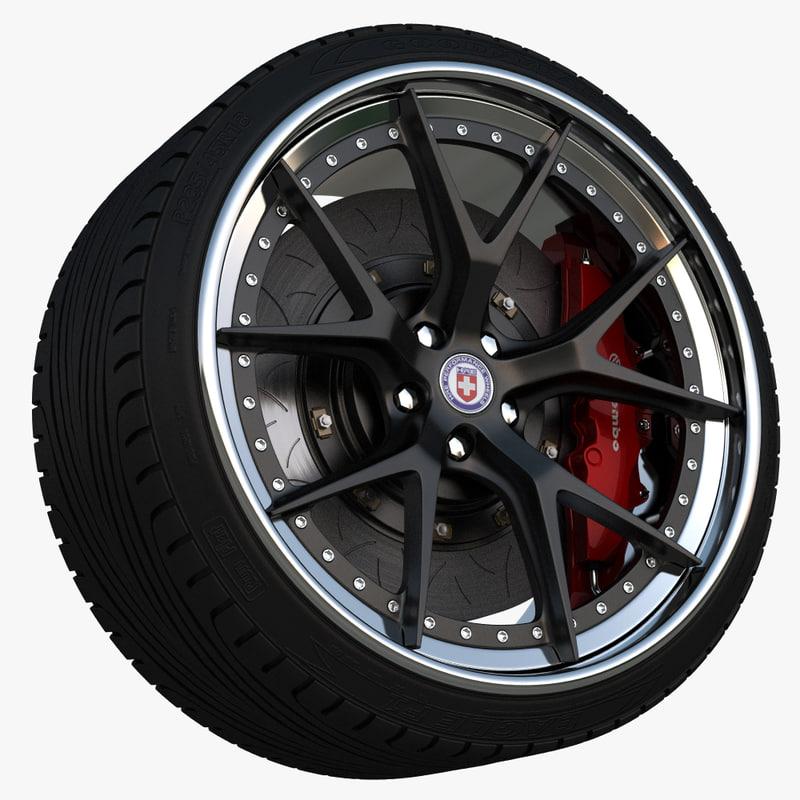 Wheel 3d Model 3d Wheel Hre S101 Model