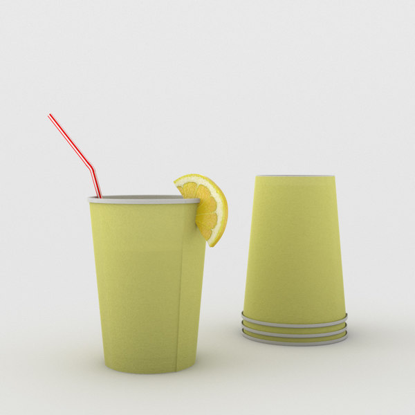 Cup of Lemonade 3D Models