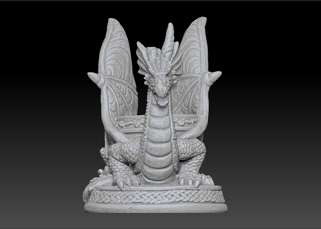 Scan oil warmer dragon obj - Dragon oil warmer ...
