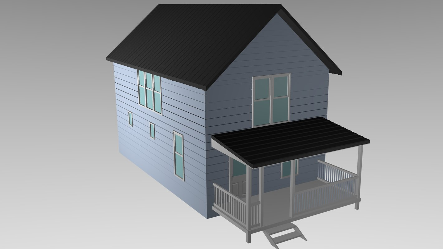Stl finder 3d models for simple house for Minimalist house 3d