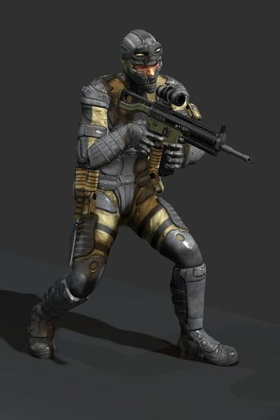 Future soldier 3D Models