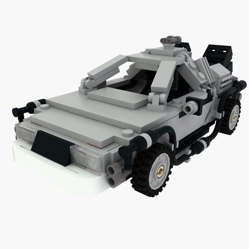 Delorean Lego Back to the future
