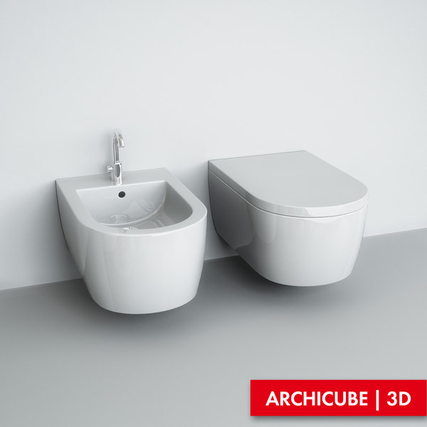 Wall-mounted WC & Bidet 3D Models