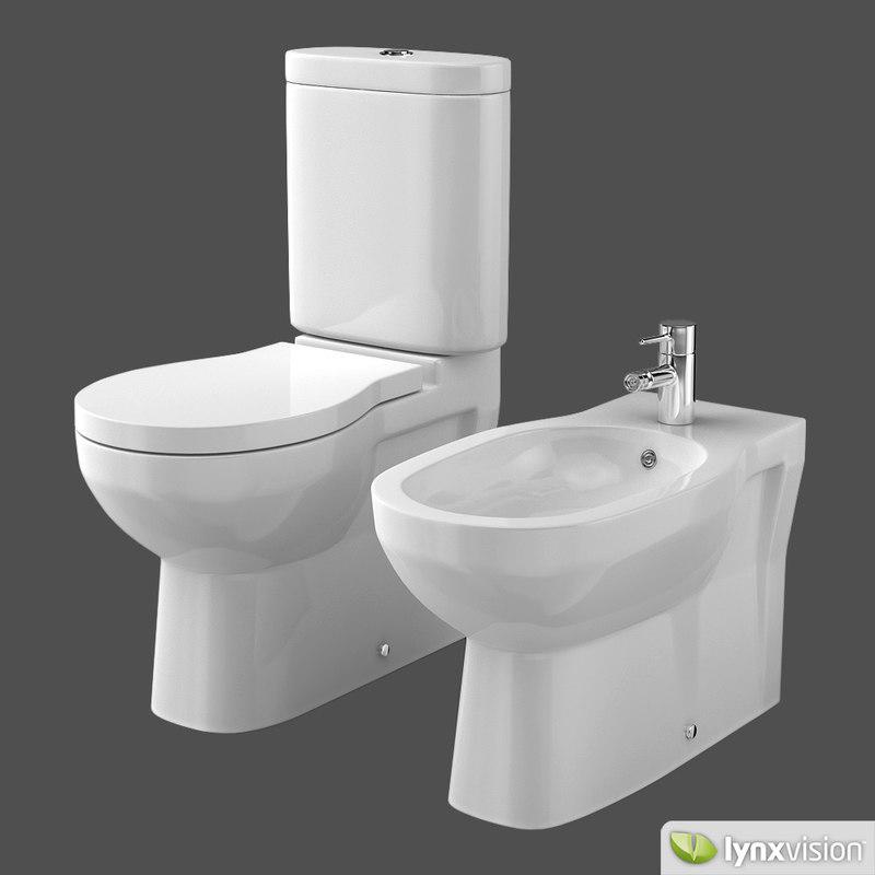 ceramic toilet bidet foster 3d model. Black Bedroom Furniture Sets. Home Design Ideas