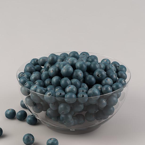 blueberry fruits 3d model