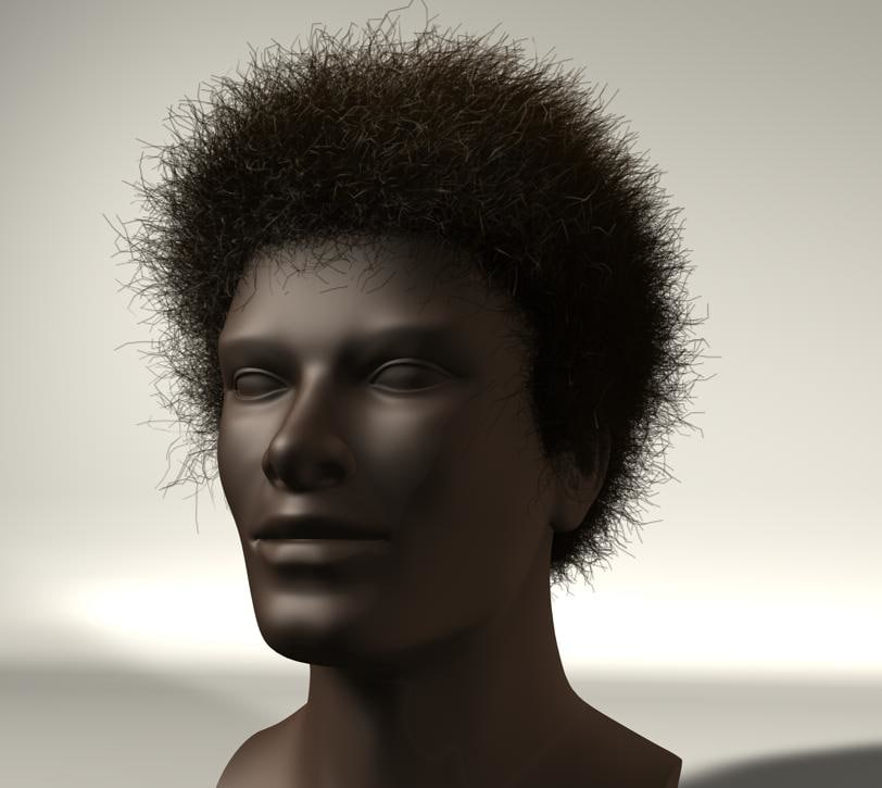 afro hair messy c4d 11.5