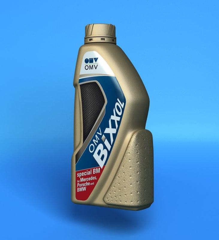 Motor Oil Bottle 3d Lwo