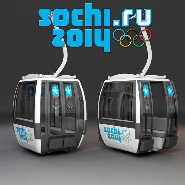 Sochi Cableway Car 3D Models